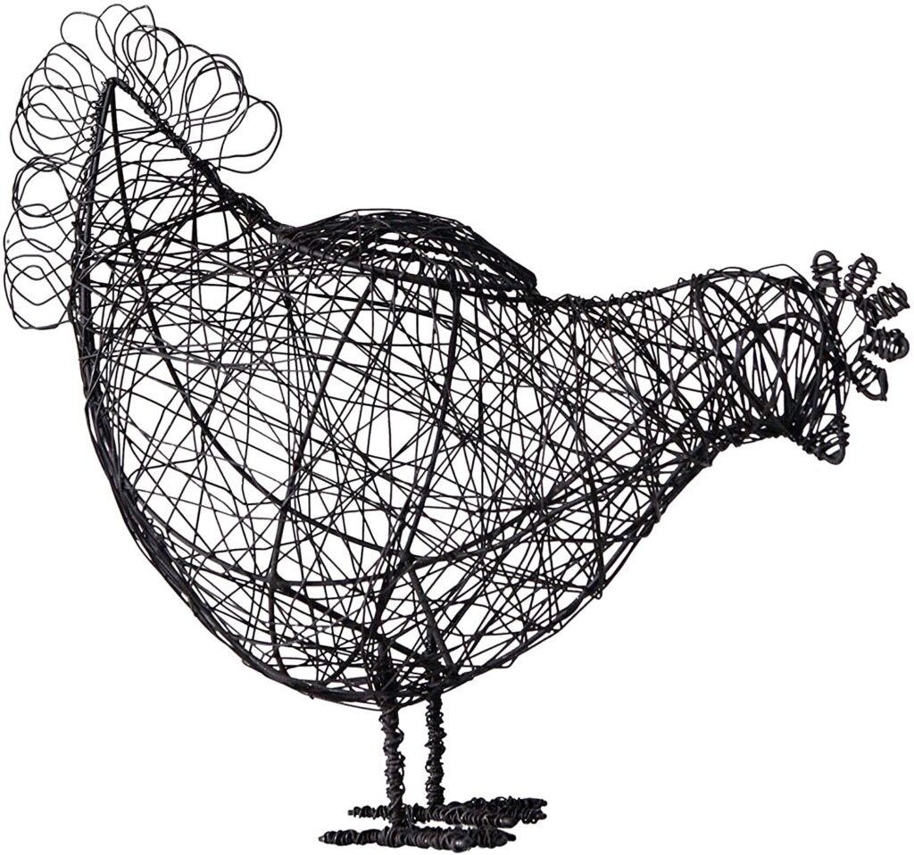 Creative Co-Op Wire Hen Basket $20.23