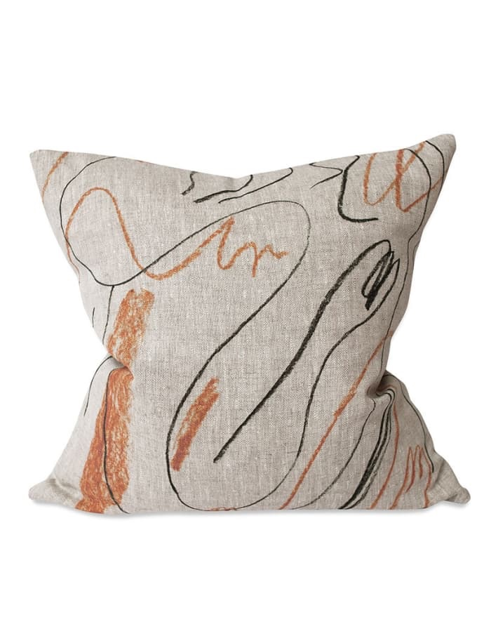 Orange Linen Cushion Cover $72.99
