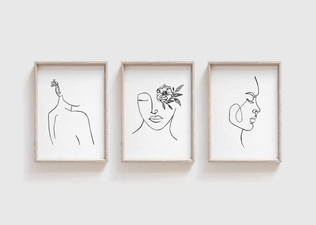 Set of Three   One Line Drawing $16.49 https://fave.co/3lbbrn9