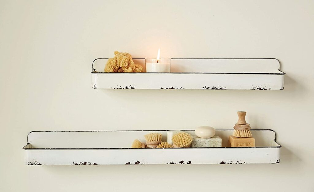 Creative Co-Op DA8541 White Wall Shelves $48.98