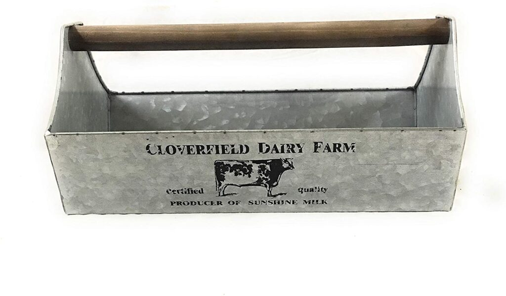 Colonial Tin Works Cloverfield Dairy Caddy Kitchen Supplies $44.82