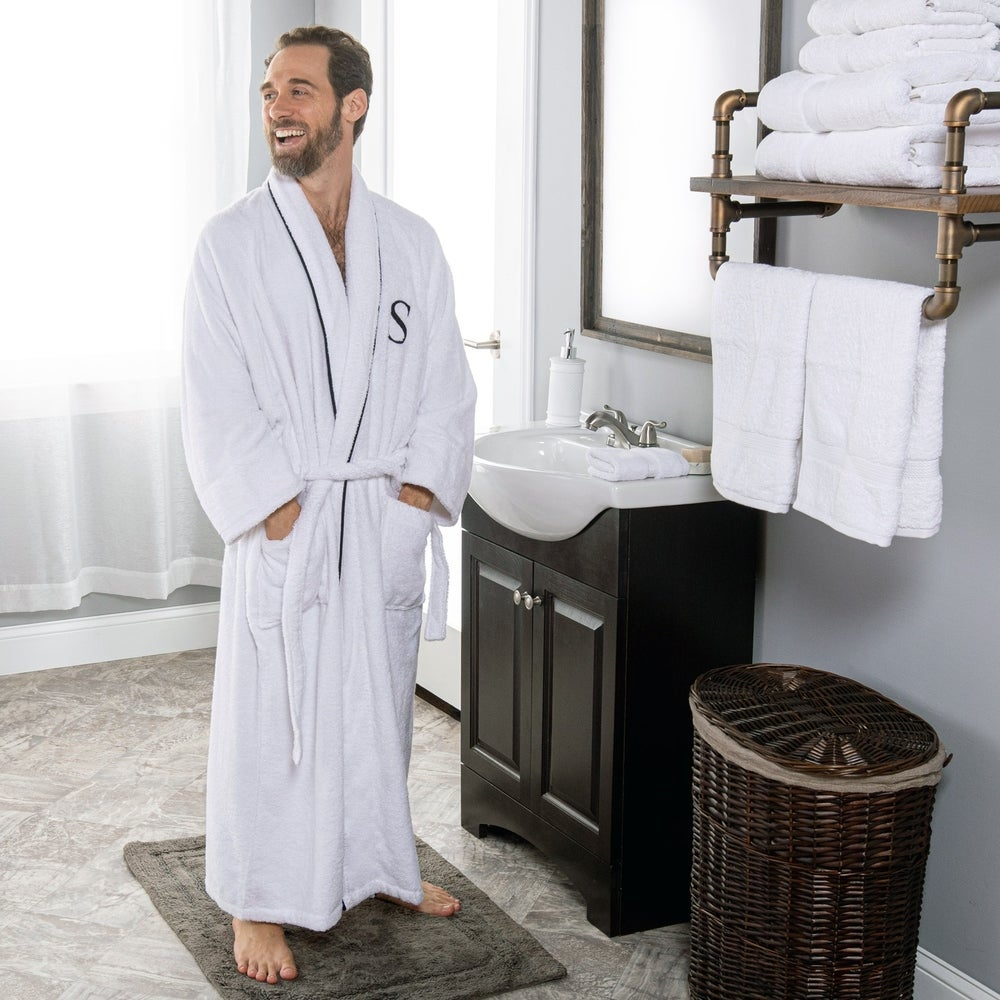 Miranda Haus Egyptian Cotton Monogrammed Adult Unisex Bathrobe $ 45.00