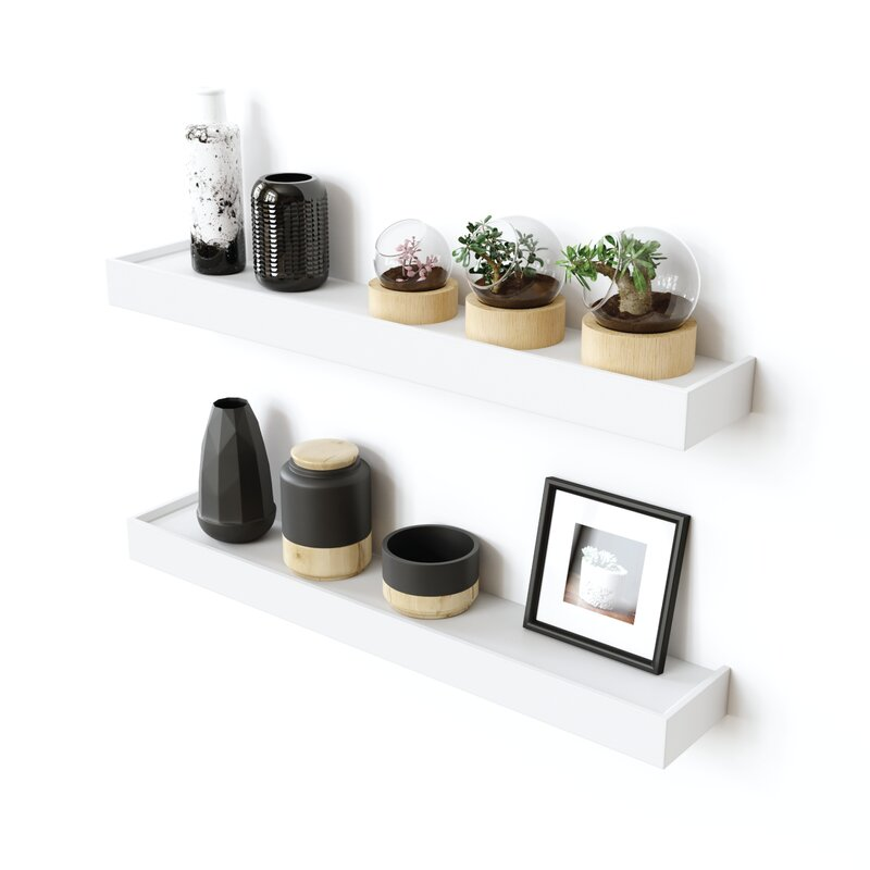Modern Ledge 2 Piece Wall Shelf Set (Set of 2) $78.99