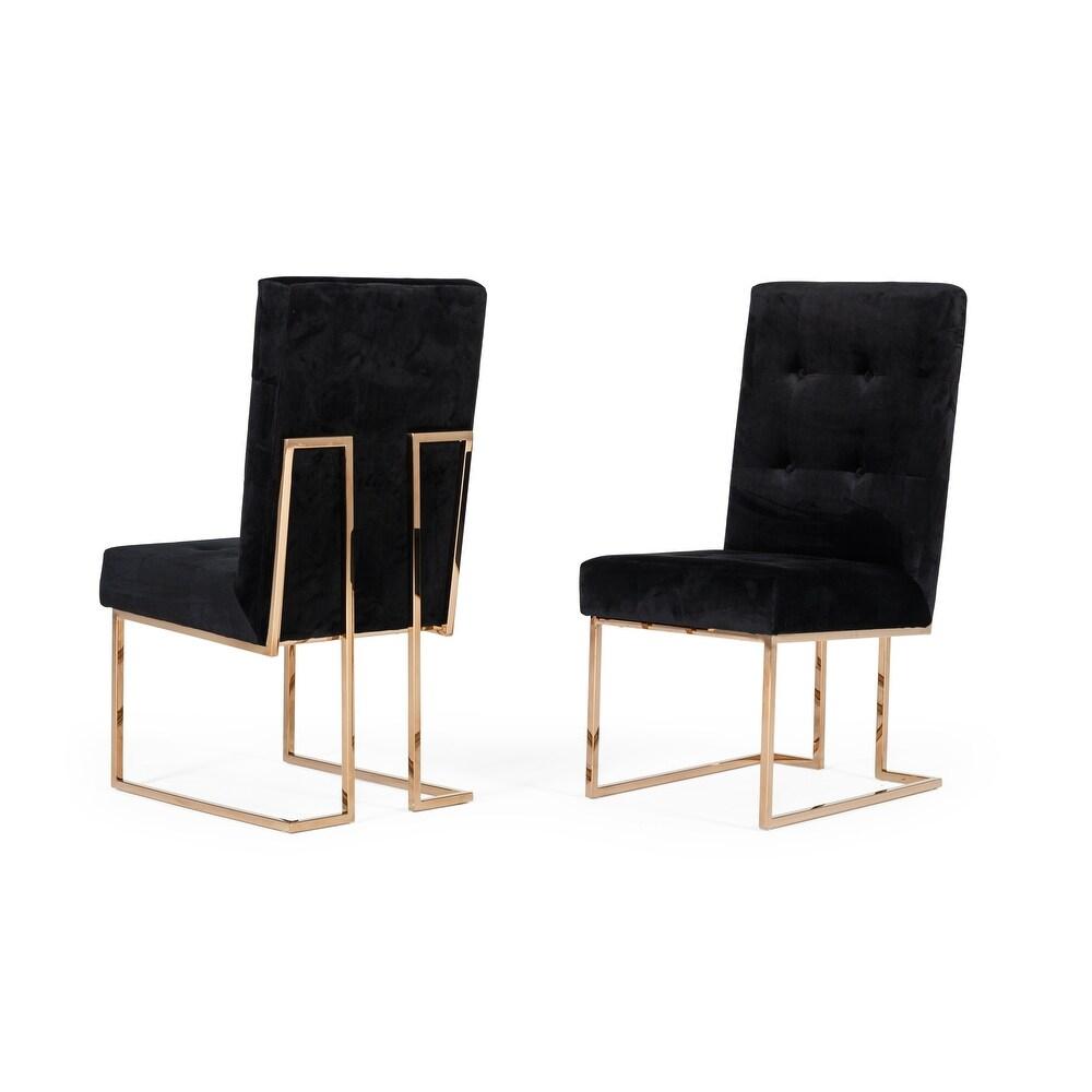 Modrest Legend Modern Black & Rosegold Dining Chair (Set of 2) $644.39