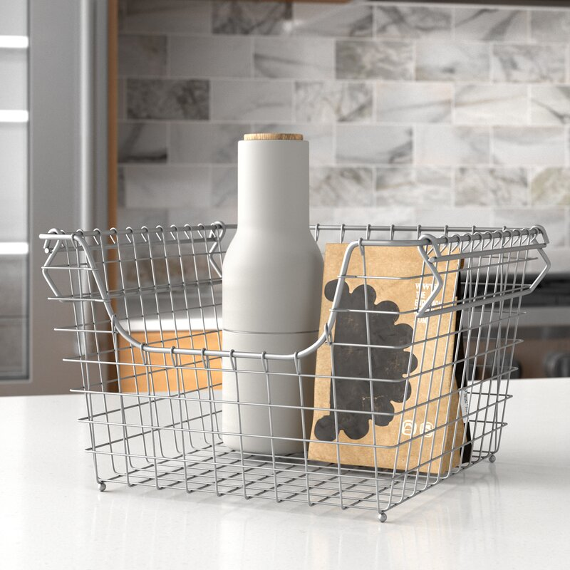 Scoop Stacking Metal/Wire Basket $17.24