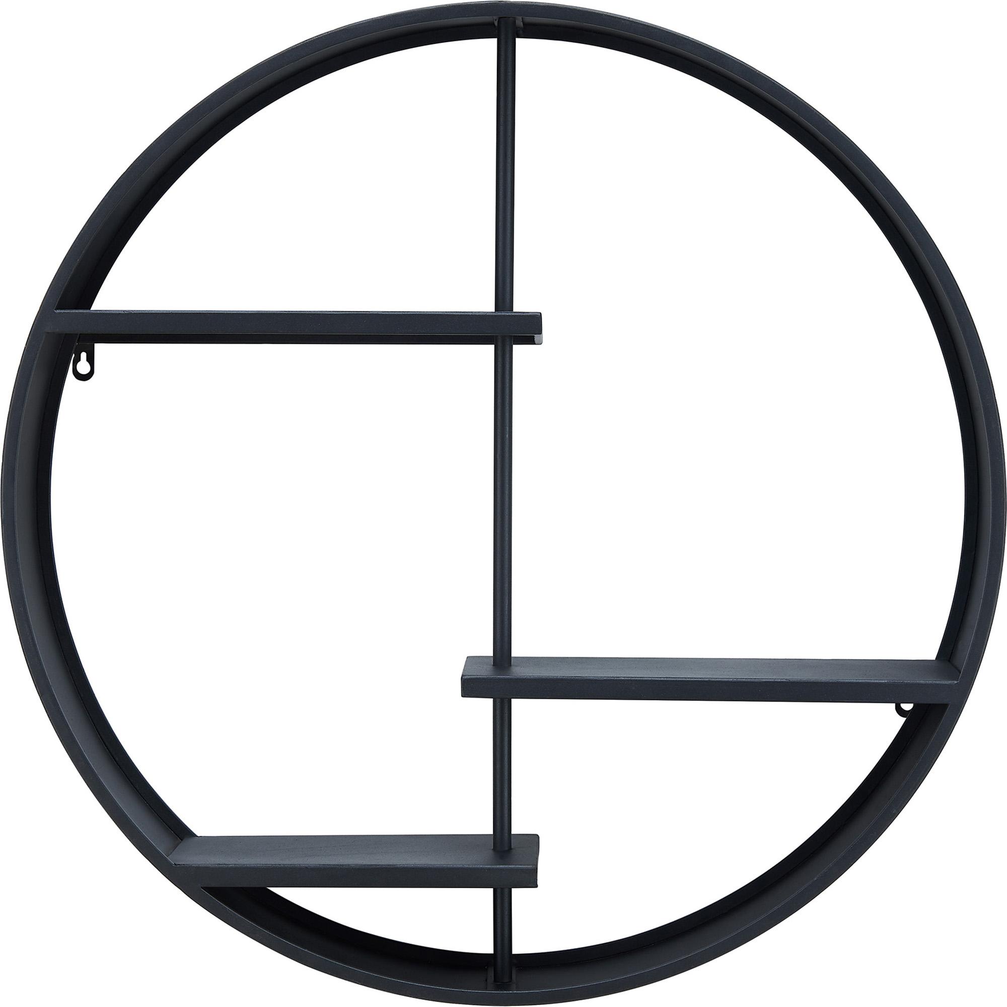 FirsTime & Co.® Brock Industrial Circular Shelf, American Crafted, Dark Gray, 27 x 6 x 27 in, (70195) $60.68
