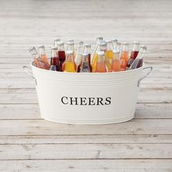 Rustic Farmhouse Cheers Galvanized Beverage Tub $43.49