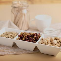 3-Section White Serving Tray $14.99