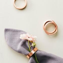 Turner Copper Round Napkin Rings, Set of 4 $24.99