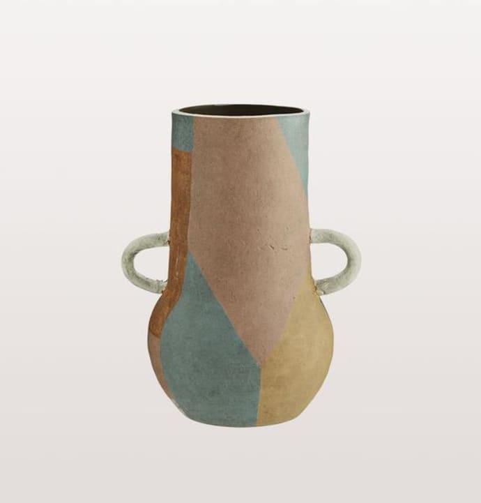 Moroccan Multi Coloured Terracotta Vase Large $70.49