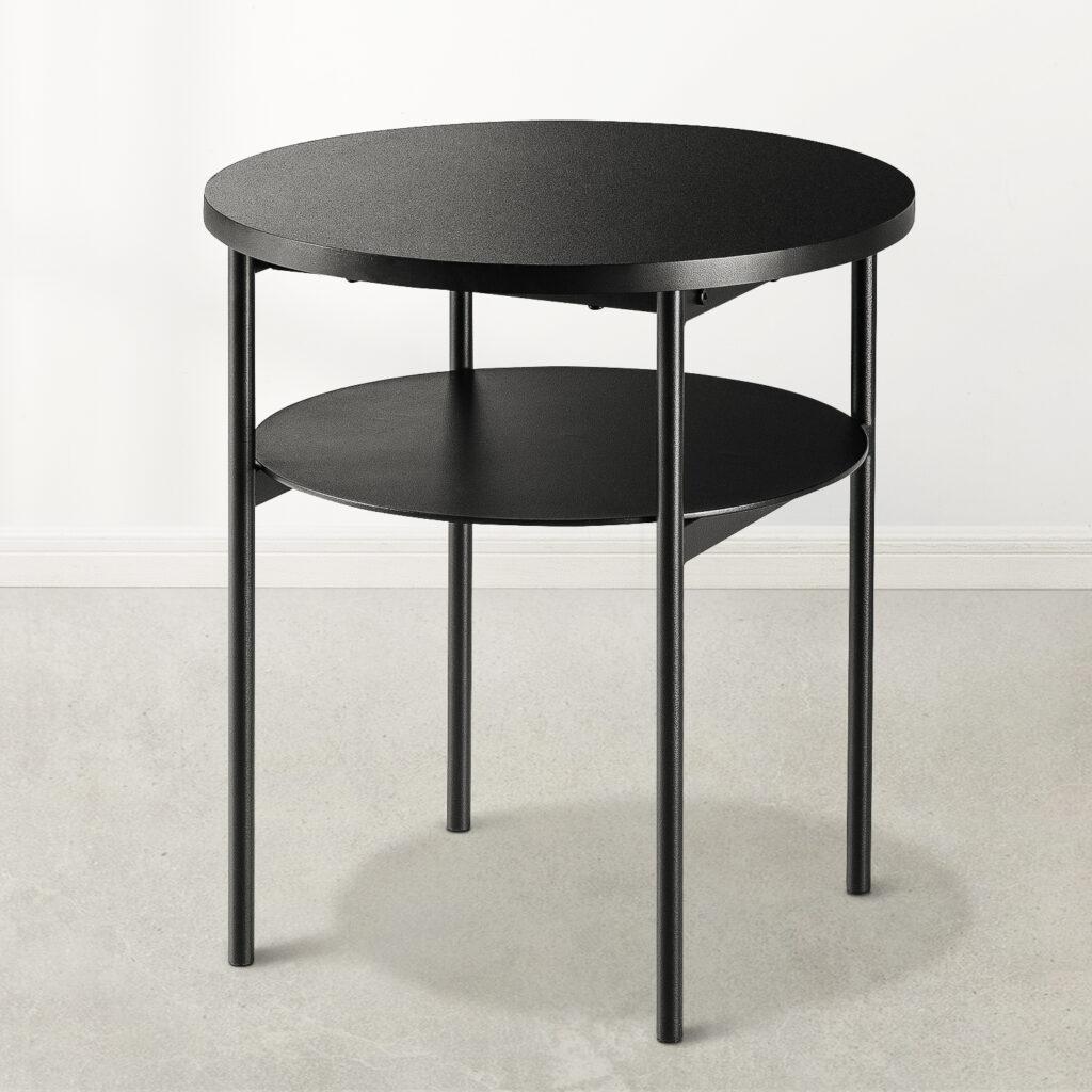 Mellow AIDA Round Multipurpose End & Side Table, White $120.00