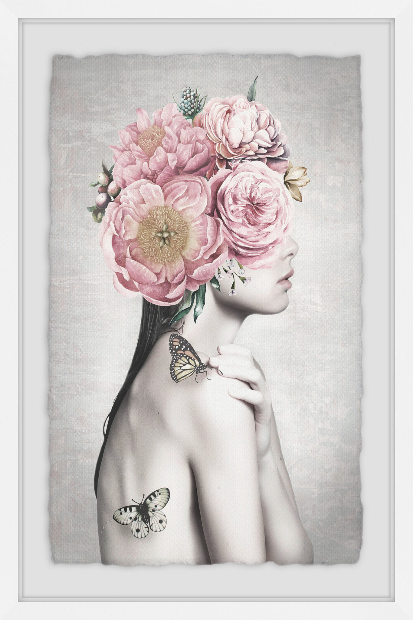 Marmont Hill Pink Flower Turban Framed Wall Art $49.00-648.00