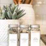 Modern Minimalist Spice Labels $7.00