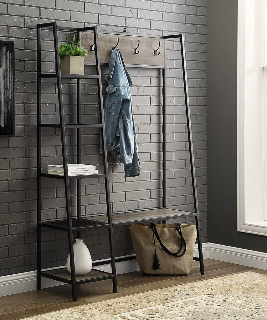 Graywash Storage Hall Tree $203.97https://fave.co/3k1mFdv