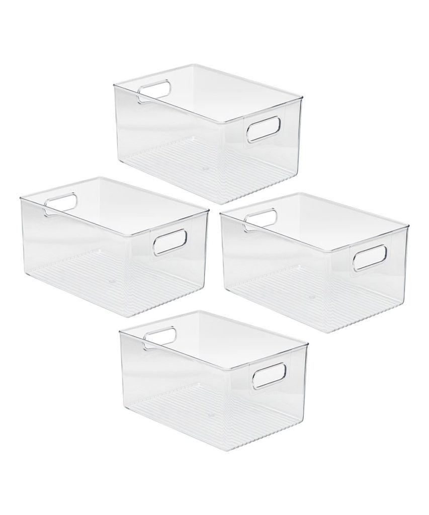Clear Storage Bin - Set of Four $29.99