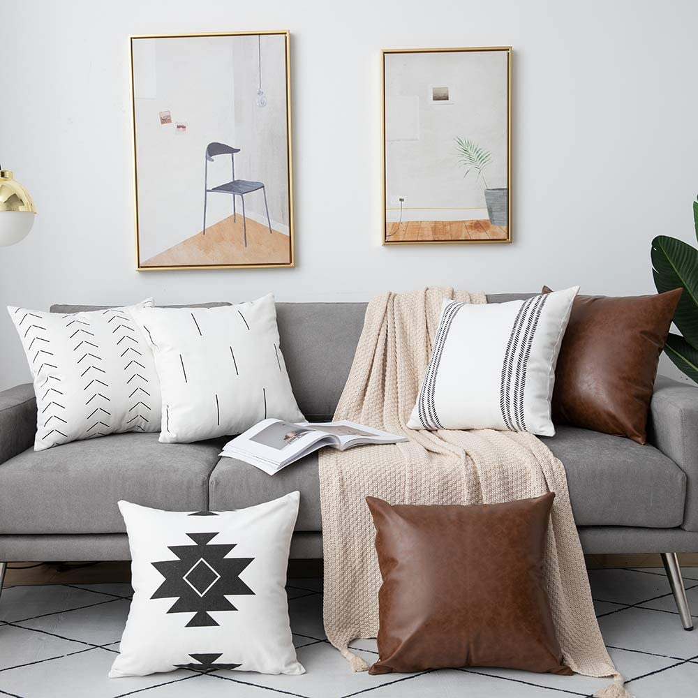6 Pack Decorative Throw Pillow Covers $32.99