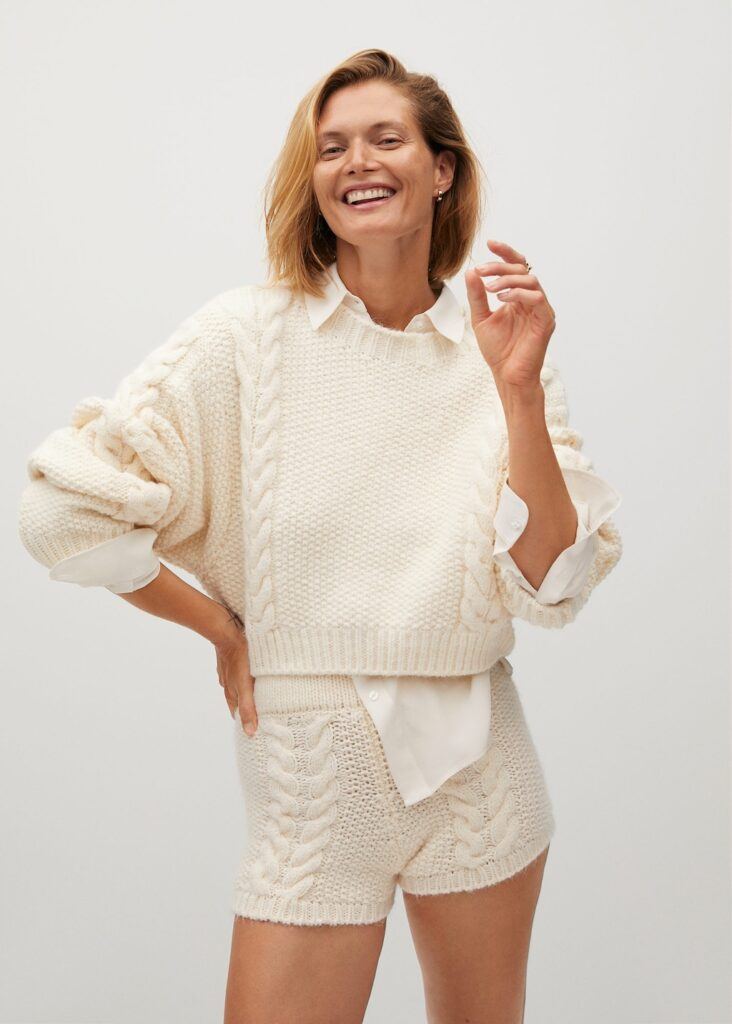 Cable-knit sweater $59.99
