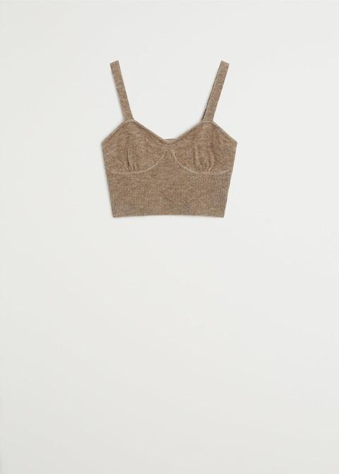 Knit strap top $39.99