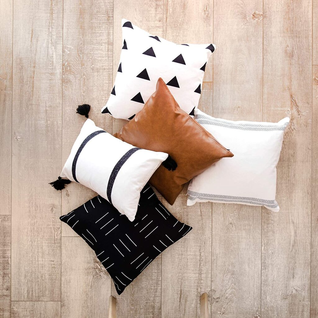 Pillow Covers and Cases, Set of 5 $39.95