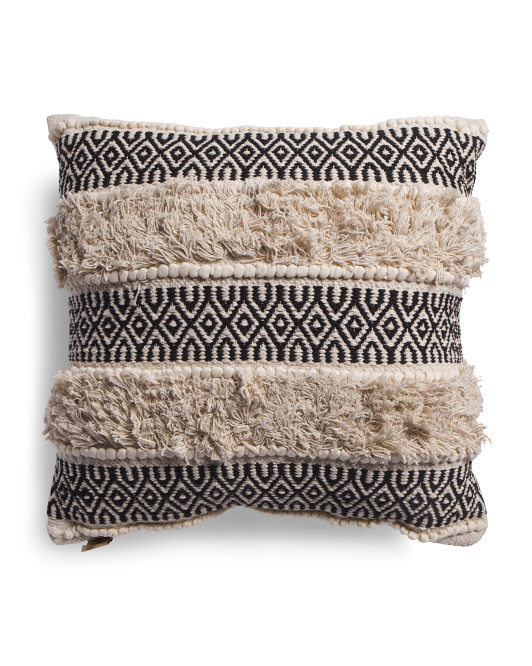 DEVI DESIGN 24x24 Oversized Embroidered Pillow $24.99
