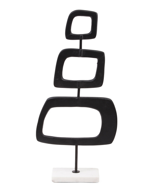 SAGEBROOK HOME 22in Metal Square Rings On Stand $39.99