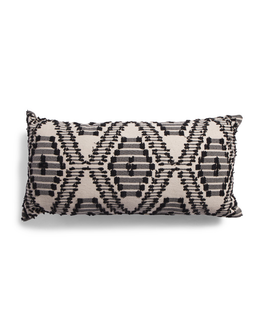 DEVI DESIGNS 16x32 Oversized Geo Pattern Pillow $24.99