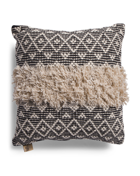 DEVI DESIGN 20x20 Textured Pillow $19.99