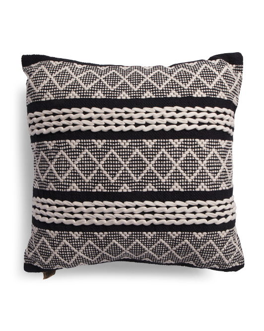 DEVI DESIGN 24x24 Oversized Textured Pillow $24.99