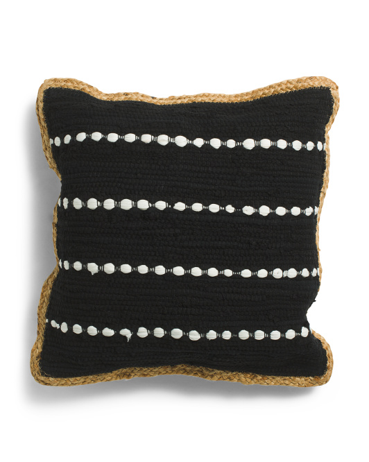 LR RESOURCES 18x18 Stripe Pillow With Jute Trim $16.99