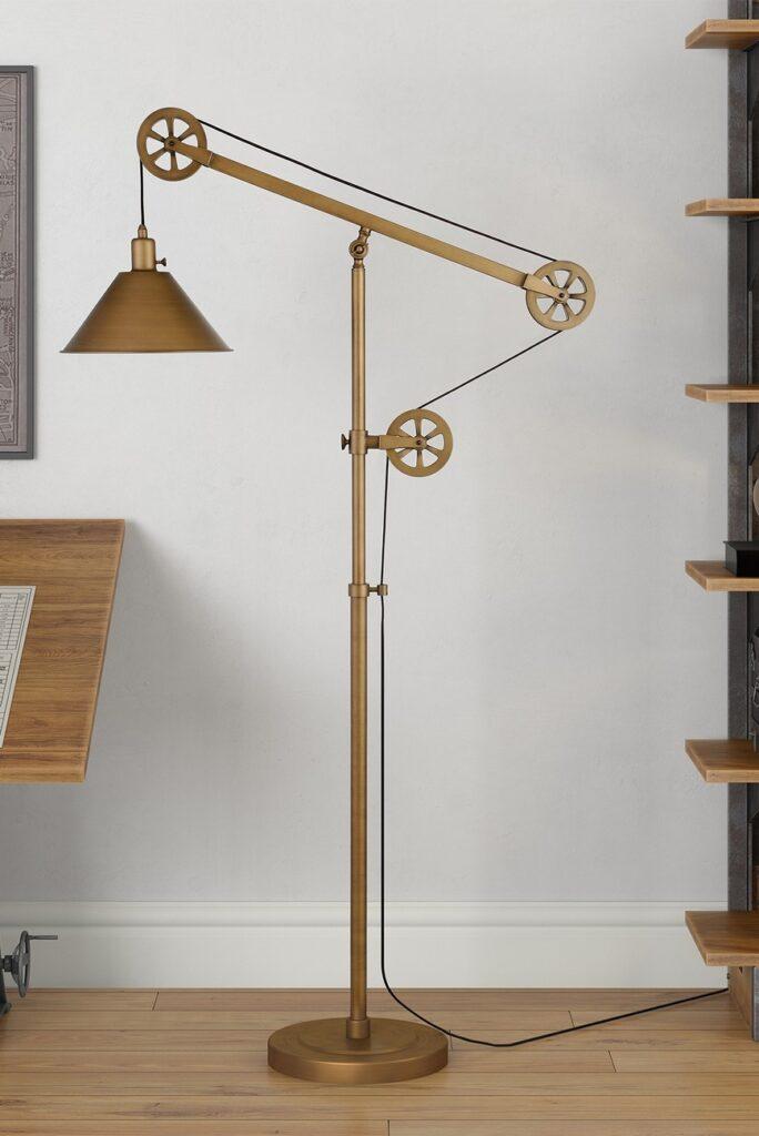 Descartes Floor Lamp - Antique Brass $174.97