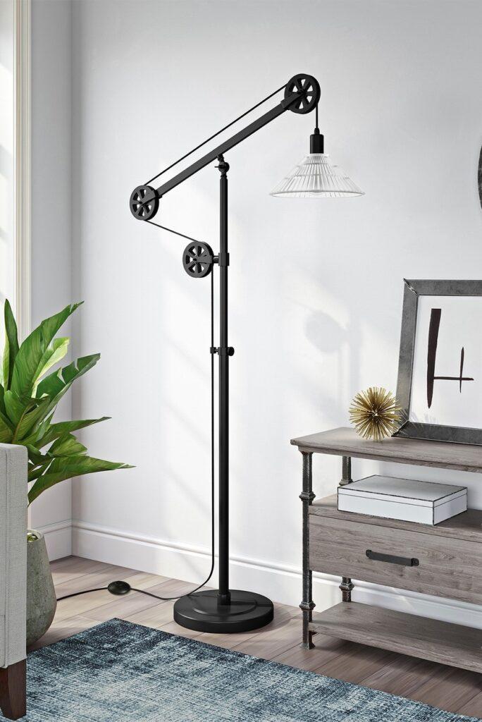 Descartes Floor Lamp - Blackened Bronze Finish $187.97