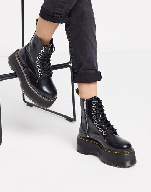 Dr Martens Jadon Max chunky flatform boots in black $200.00