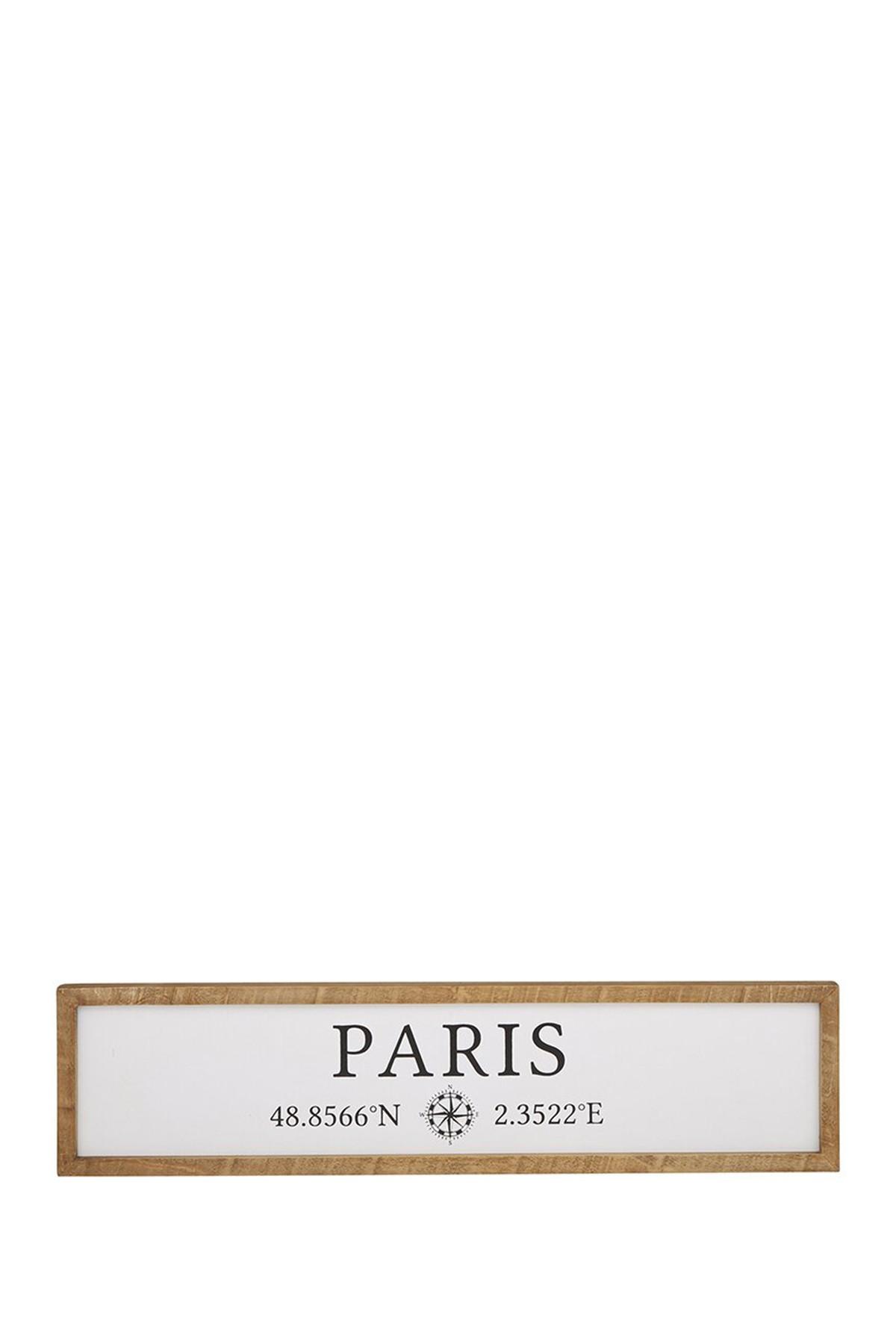 CREATIVE BRANDS Paris Wood Frame $14.97