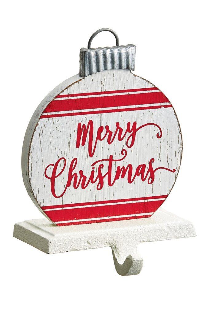 "7\"" Merry Christmas Disc Stocking Holder $20.97"