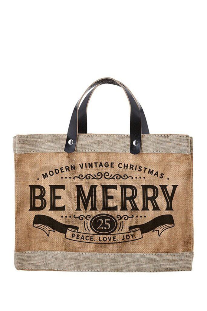 CREATIVE BRANDS Be Merry Mini Market Tote $24.97