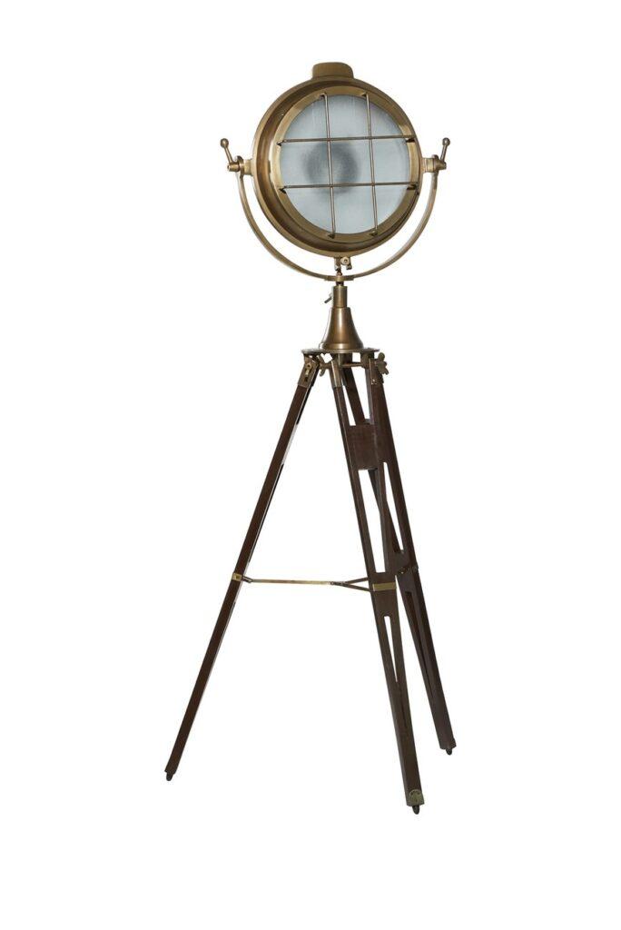 "Willow Row Industrial Wood And Metal Spotlight Floor Lamp - 30\"" x 65\"" $459.97"