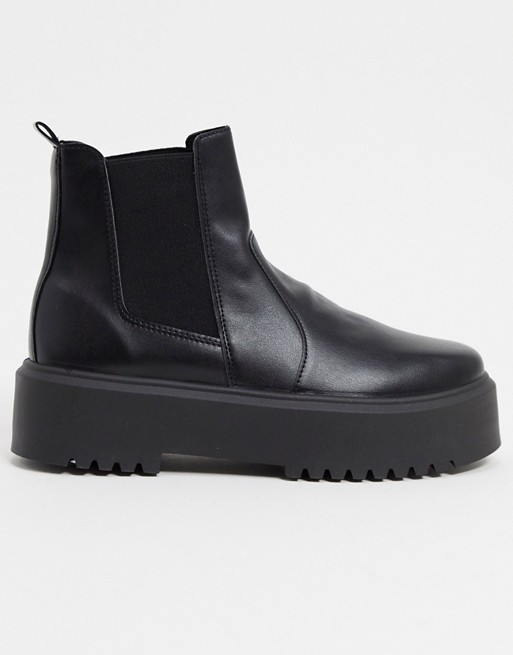 ASOS DESIGN Aberdeen chunky chelsea boots in black $48.00