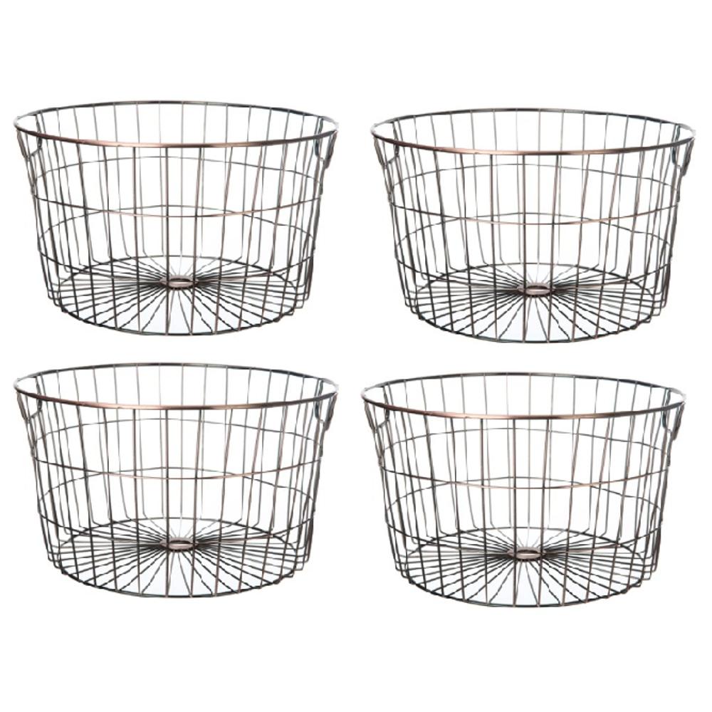 Mainstays Medium Round Wire Copper Basket - 4 Pack $24.50