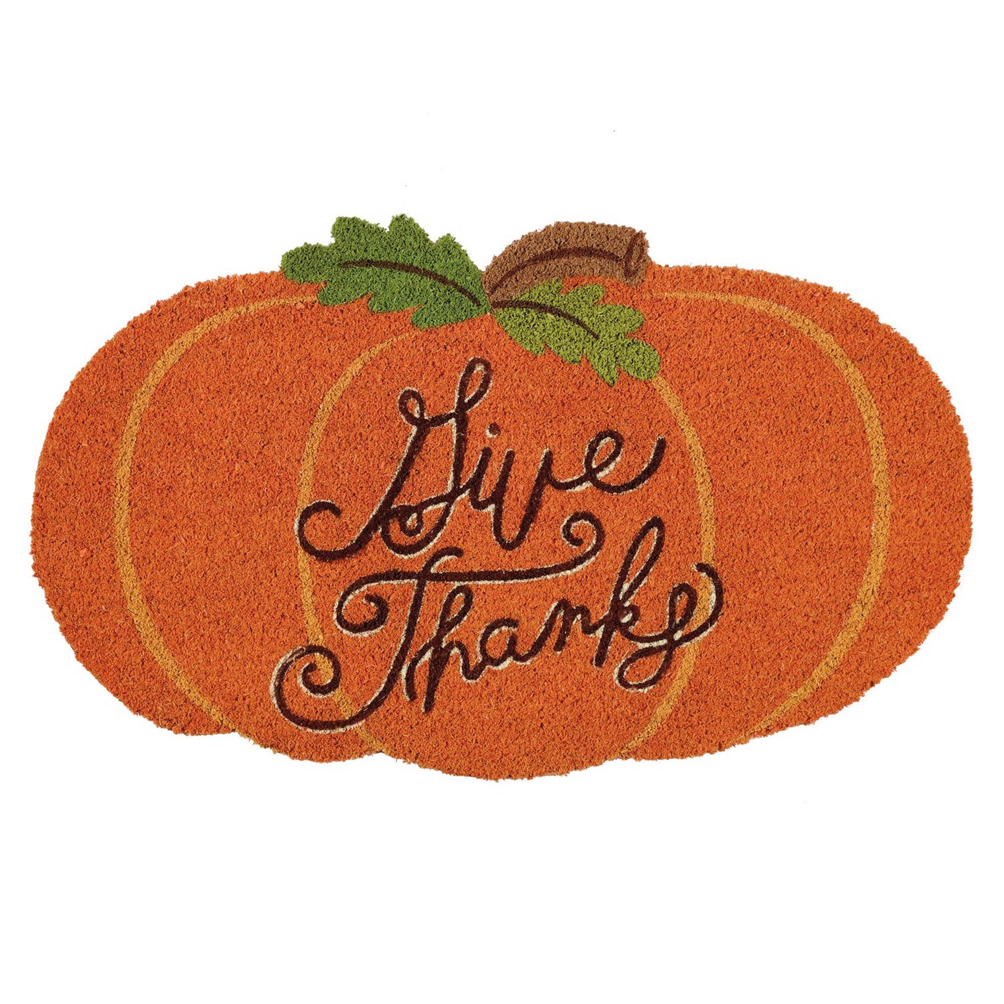 DII Give Thanks Pumpkin Doormat $25.99