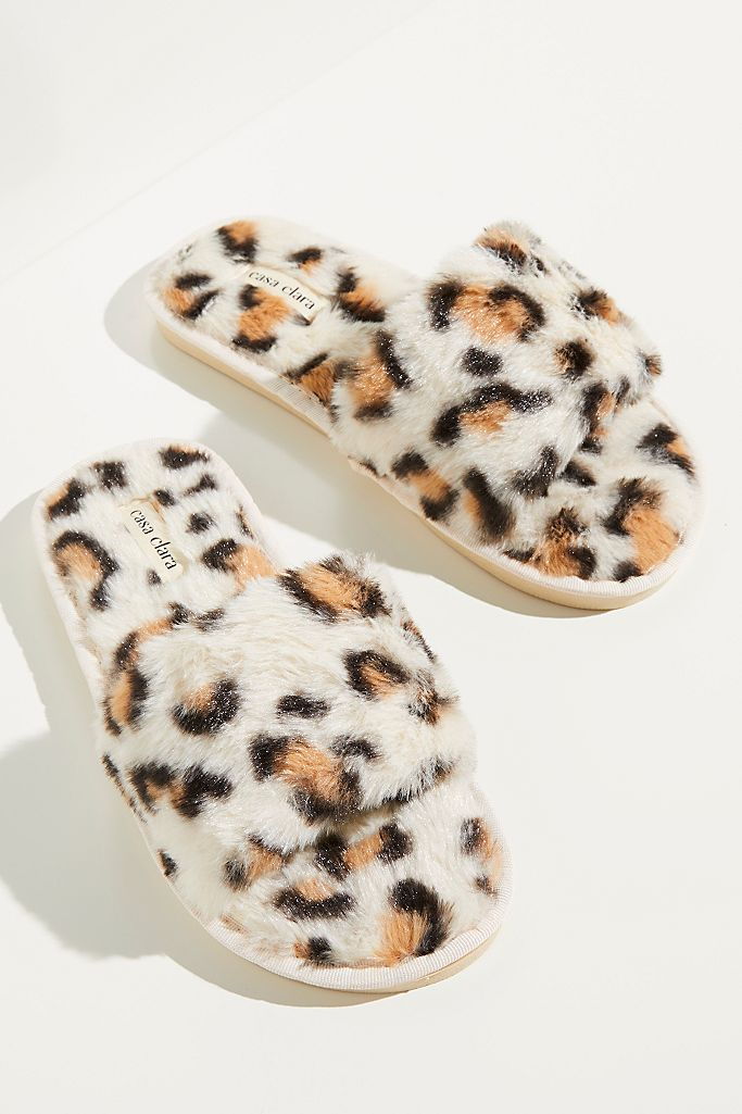 Snow Leopard Slippers $50.00