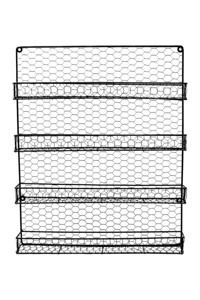 Sorbus 4 Tier Wall Mounted Spice Rack Storage Organizer - Black $19.97