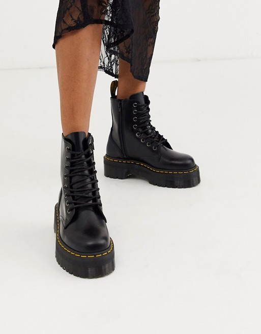 Dr Martens Jadon chunky boots in vegan black $180.00