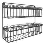 Zinc Wire 2 Tier Wall Mounted Spice Rack $14.99