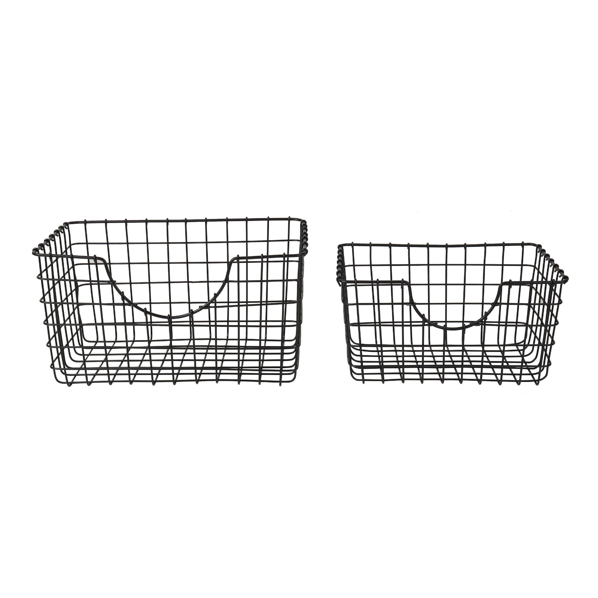 Black Wire Wilson Storage Basket $9.99-$14.99