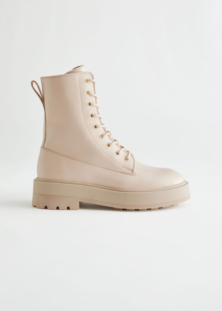 Chunky Platform Leather Boots $229