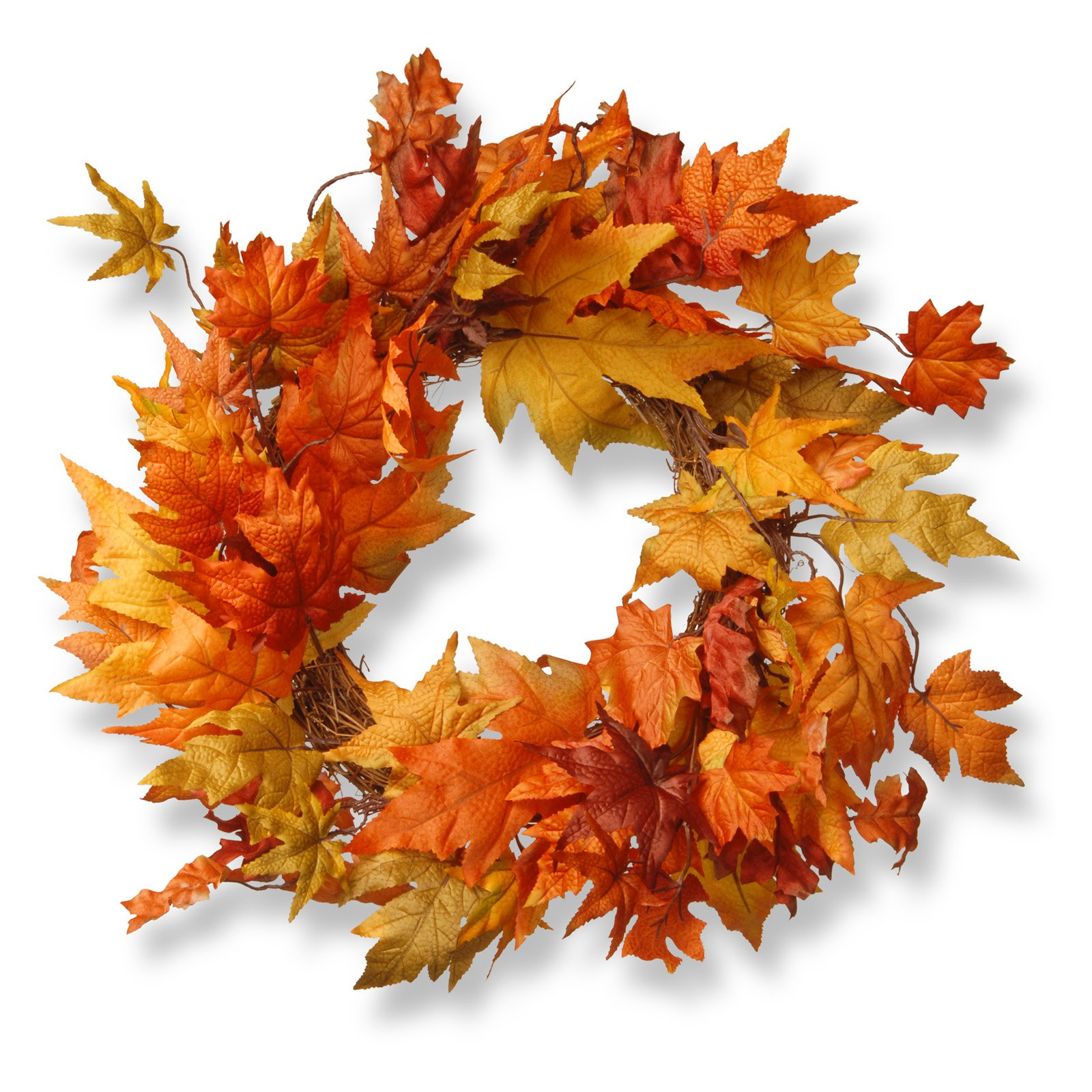 "24\\\"" Maple Leaf Wreath $40.99"