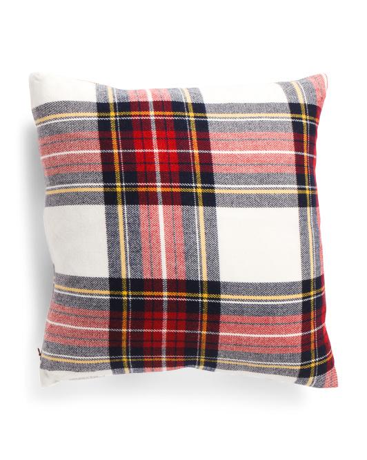 ENCHANTE 20x20 Traditional Plaid Pillow $16.99