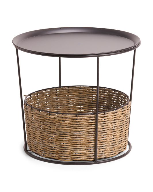 PRIVILEGE Woven Accent Table $139.99 https://fave.co/3naWgf3
