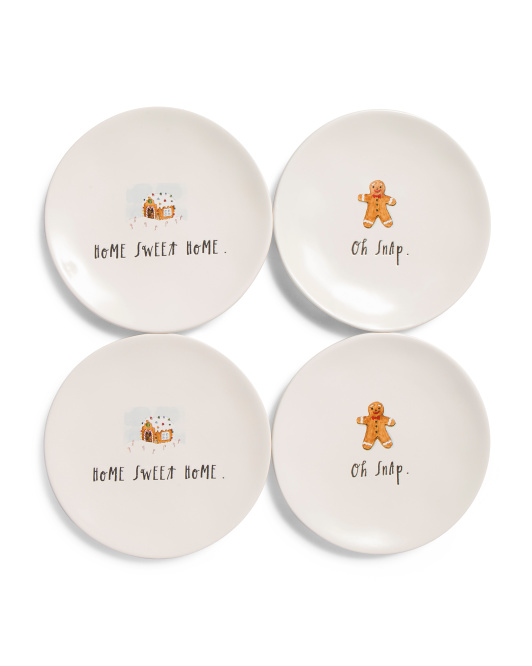 4pk Home Sweet Home Appetizer Plates $24.99