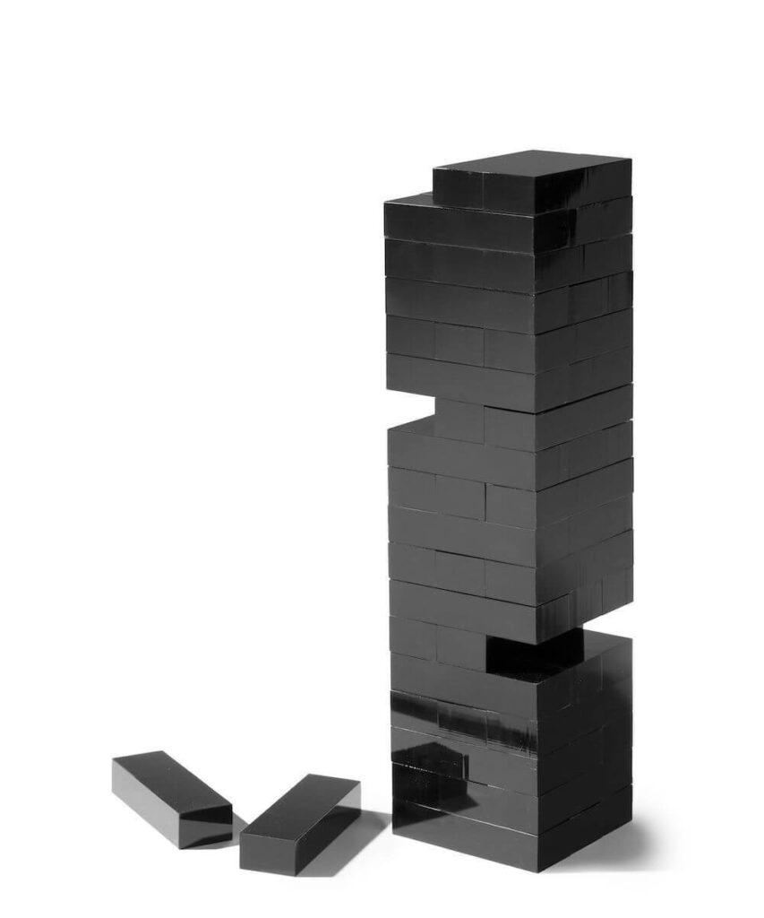 AUROSI BLACK ACRYLIC TUMBLE TOWER $150.00